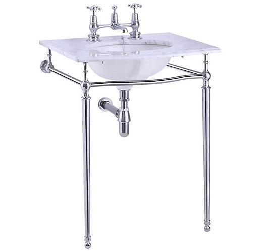 Burlington Carrara marble top & basin with basin stand