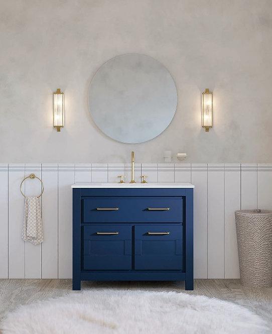 Sonia Essence 1000mm Basin Furniture Unit -Navy / Brushed Brass Handles