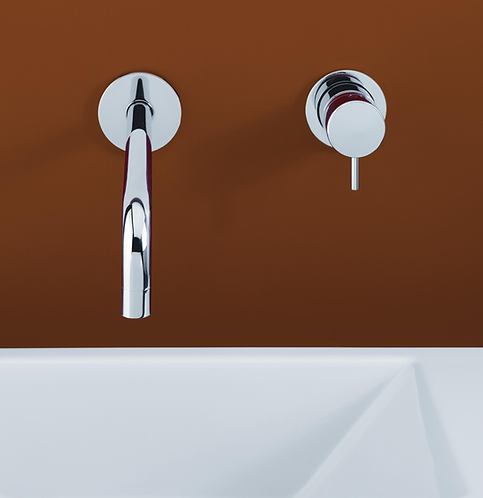 Flow Single Lever Wall Mounted Basin Mixer Tap :: Chrome