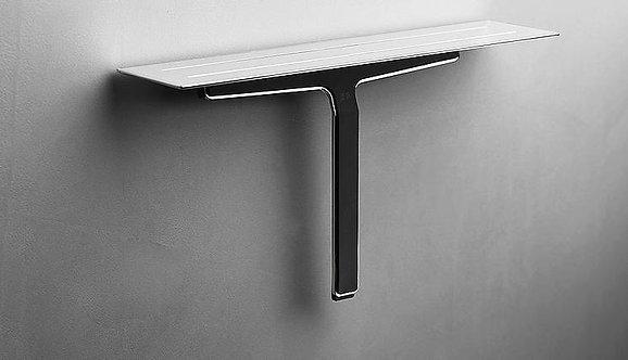 Reframe Shower Shelf & Shower Wiper || Polished Steel