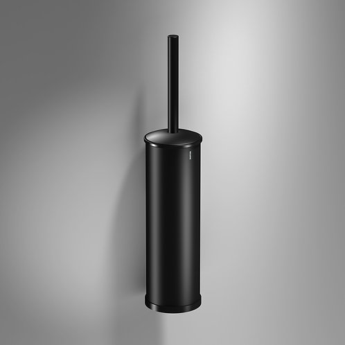 Tecno Project Metal Toilet Brush & Holder :: Matt Black