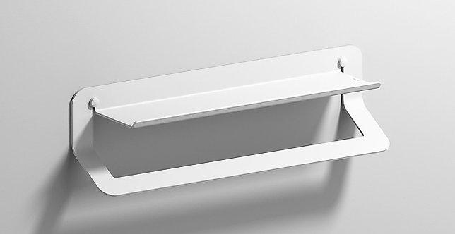 Quick Towel Rail With Shelf 450mm - Matt White