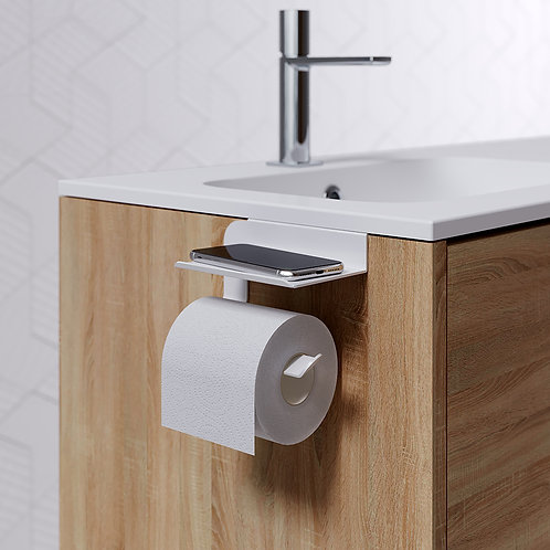 Quick Toilet Roll Holder & Shelf