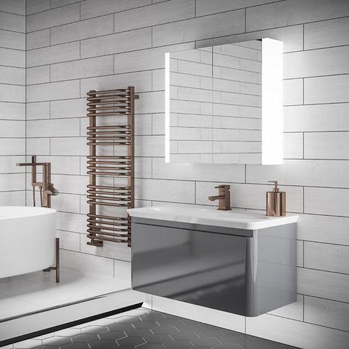HIB Paragon 60 LED Illuminated Aluminium Mirror Cabinet - 51900