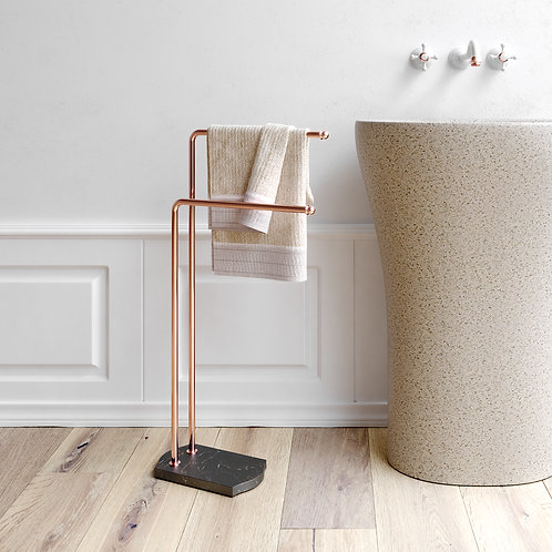 Nomad Classic Freestanding Towel Bar Stand Rose Gold