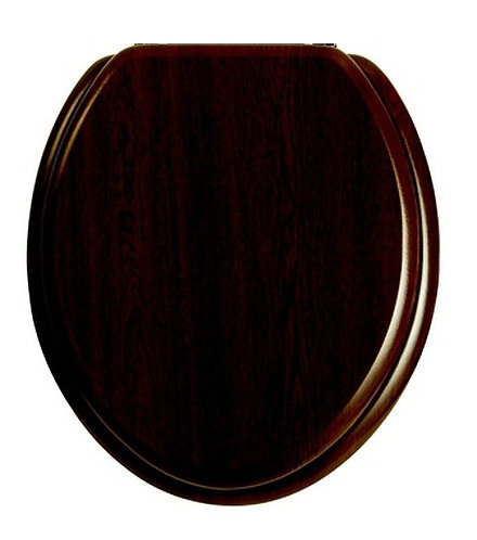 Heritage Toilet Seat With Chrome Hinges - Walnut