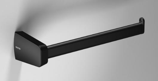 S6 Open Towel Ring 200mm || Matt Black