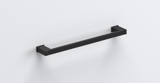 S-Cube Towel Rail 400mm - Matt Black