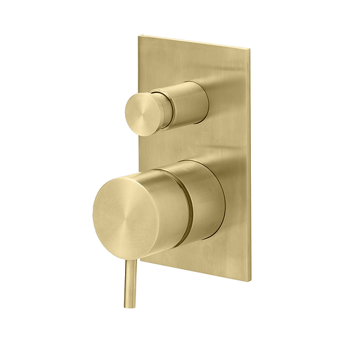 Flow wall Mounted Bath Filler  :: Brushed Brass