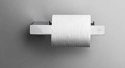 Reframe Toilet Roll Holder    Polished Steel