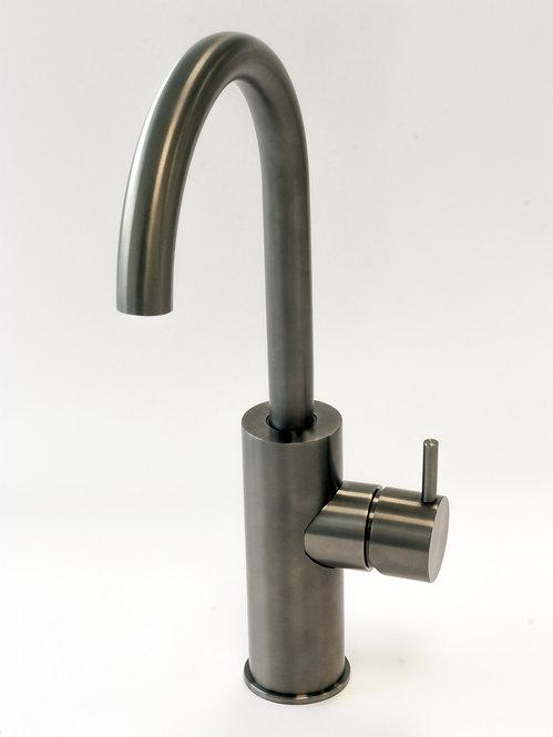 Flow SideLever Basin Monobloc :: PVD Finish Brushed Gunmetal