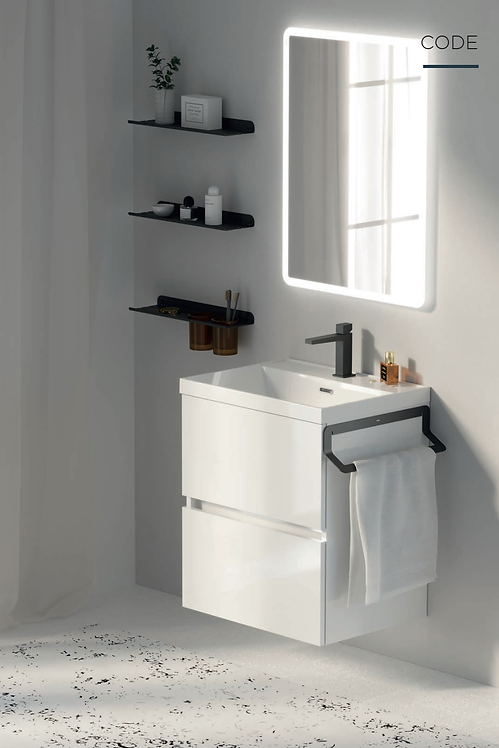 Sonia Code 600mm Vanity Unit ::  White Gloss
