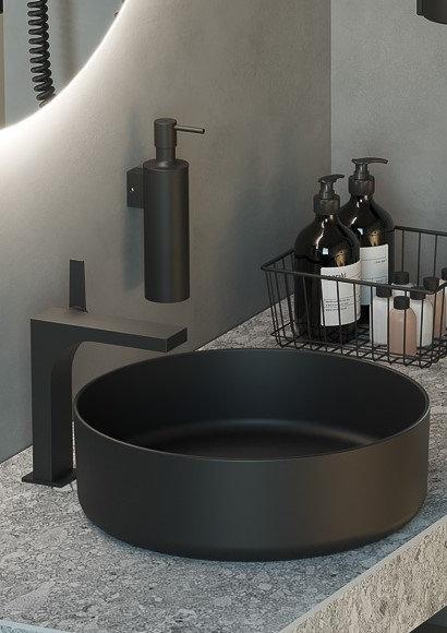 Tecno Project Metal Liquid Soap Dispenser || Matt Black