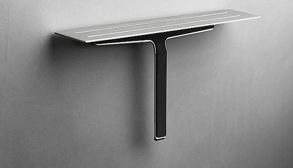 Reframe Shower Shelf & Shower Wiper || Brushed Steel