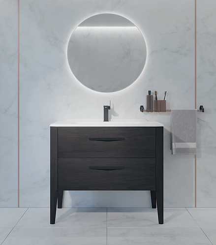 Sonia Epoque 800mm Basin Furniture Unit :: Night Oak