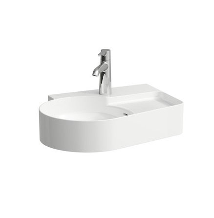 Laufen VAL 530MM X 400MM Washbasin With Semi-Wet Area & Tap Ledge