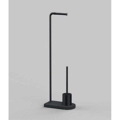 Nomad Vanguard Freestanding WC Brush- Toilet roll Holder Stand Matt Black