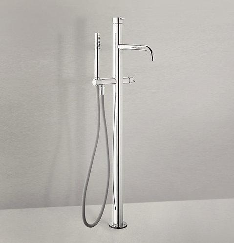 Flow Freestanding Bath Shower Mixer Tap :: Chrome