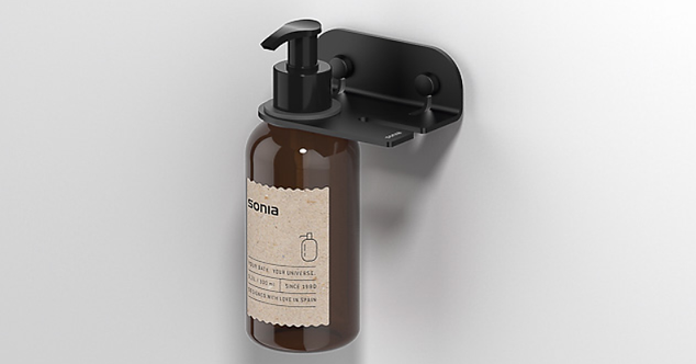 Quick Soap Dispenser Holder & Bottle  - Matt Black