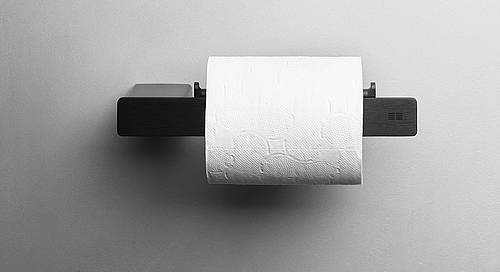 Reframe Toilet Roll Holder || Black