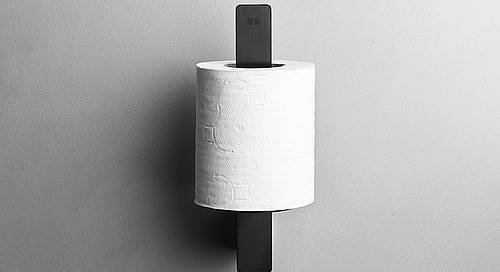 Reframe Spare Toilet Roll Holder || Black