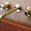 Thumbnail: Wall Mounted Basin Mixer Brushed Brass -Flow DualLever