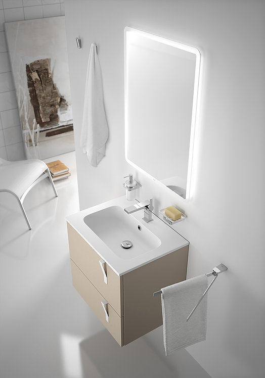 Sonia Evolve600 ArenaSoft Double drawer vanity Unit & Basin.
