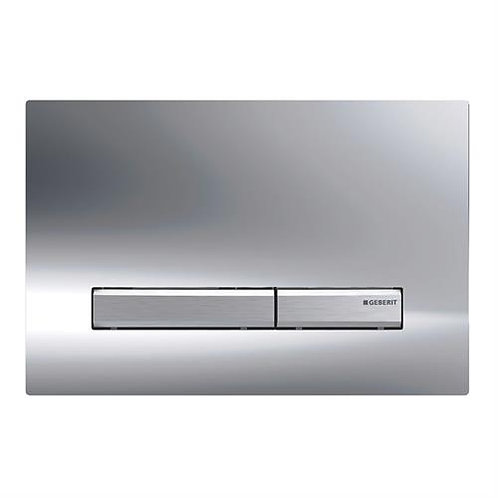 Geberit Sigma 50 Dual Flush Plate - Gloss Chrome