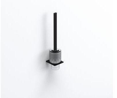 S-Cube Toilet Brush & Holder || Matt Black