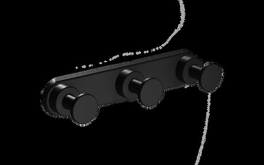 Tecno Project Triple Robe Hook 25mm -Matt Black