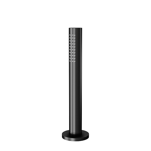 Water evolution Flow pull-out hand shower with retractable mounting: Matt Black