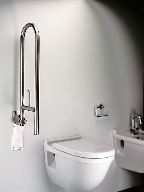 Grab Bar Swing Up Stainless Steel::