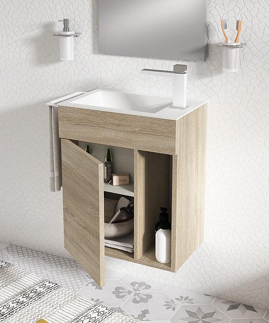 Sonia Puzzle Vanity unit and Basin -Oakwood