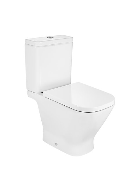 Roca The Gap Square Rimless C/C WC, Cistern & Soft Close Seat