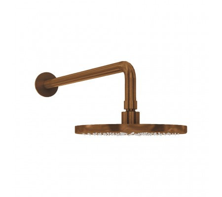 Flow Wall Mounted Arm and Head  :: PVD Finish Brushed Copper