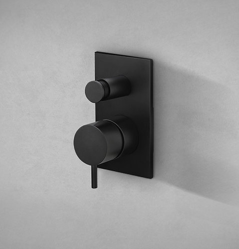 Flow Dual Concealed Thermostatic Shower Valve with Diverter - Matt Black