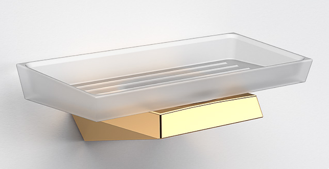 S7 Wall Mounted Soap Dish & Holder - Polished Gold