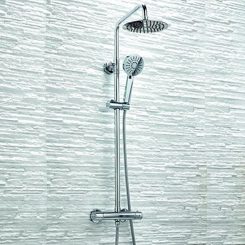 Bathworks Essentials Thermostatic Shower With Rainshower & Shower Handset