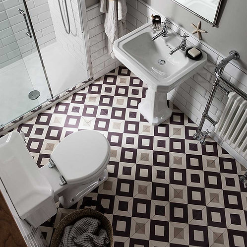 Burlington Close Coupled Toilet & Soft Close Seat - Cistern Lever