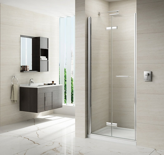Series 8 Frameless Hinged Bifold Shower Door - 800mm
