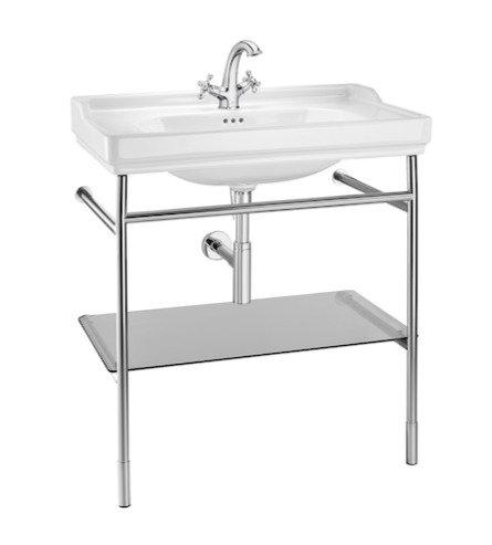 Carmen 800mm Washbasin With Chrome Washstand