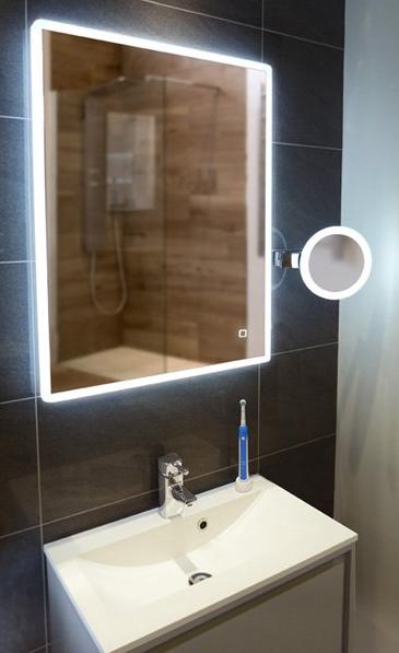 HIB Vega LED Illuminated Mirror 80x60cm