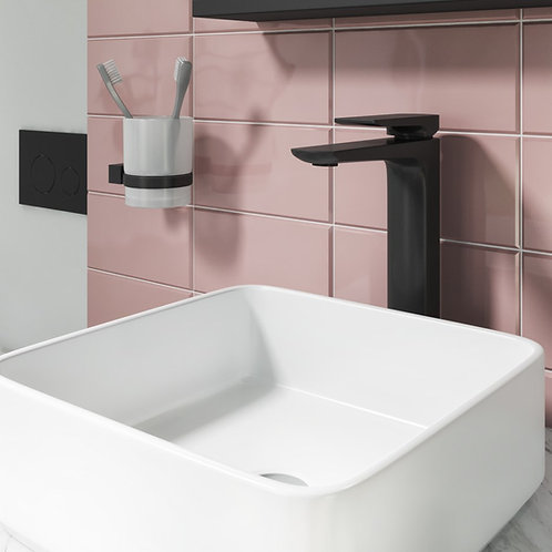 Bathworks Essentials Luxury Tall Mono Basin Mixer Tap - Matt Black