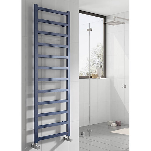 Reina Fano Aluminium Heated Towel Rail - Blue Satin