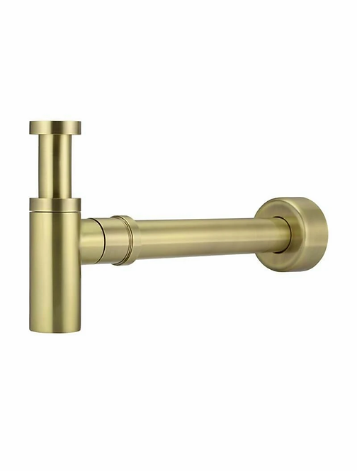 Flow Basin Bottle Trap - Brushed brass