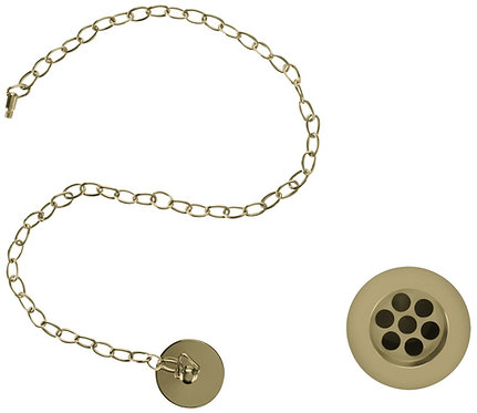 Burlington Basin Waste, Plug & Chain - Gold