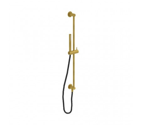 Flow Wall Mounted Slide rail kit Built Inc outlet elbow :: Brushed Brass