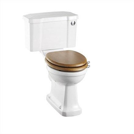 Burlington Close Coupled Toilet & Soft Close Seat - Flush Button