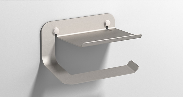 Quick Toilet Roll Holder with Shelf 2.0 :: Steel
