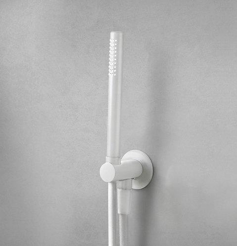 Flow Shower Handset Holder and Outlet - Matt White